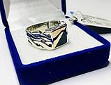 Печатка в серебре с золотом и ониксом Стивен, фото 2