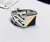 Печатка в серебре с золотом и ониксом Стивен, фото 6