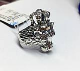 Срібна печатка з золотом Король Лев, фото 2
