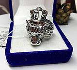 Срібна печатка з золотом Король Лев, фото 6