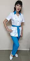 Женский медицинский костюм Тиффани хлопок короткий рукав, фото 1