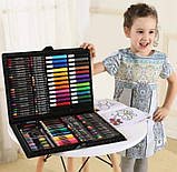 Набор для творчества детский 228 предметов Mega Art Set | Детский набор для рисования | Набор юного художника, фото 3