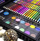 Набор для творчества детский 228 предметов Mega Art Set | Детский набор для рисования | Набор юного художника, фото 7