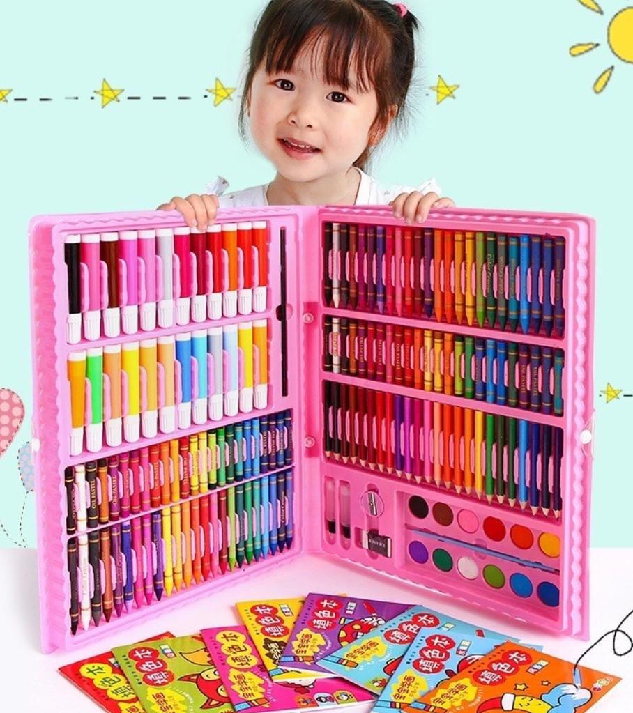 Набор для творчества детский 228 предметов Mega Art Set | Детский набор для рисования | Набор юного художника