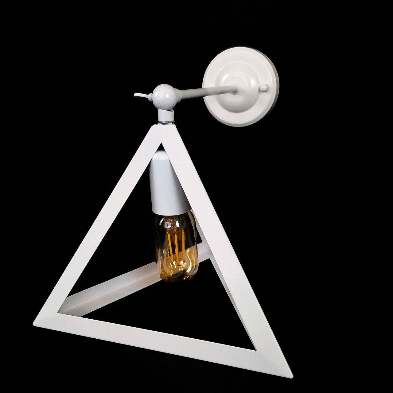 Бра на одну лампу в стиле лофт пирамида  белая поворотное YS-TY001-B/1W WH