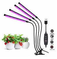 Фіто світильник прищіпка для рослин Led VGL -36W Full Spectrum USB 5V, фото 2