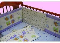 Бортик в детскую кроватку арт.17138 голубой