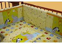 Бортик в детскую кроватку арт.17138 желтый