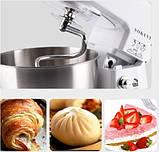 Кухонный комбайн тестомес миксер Sokany SC-209 800 Ватт, фото 6