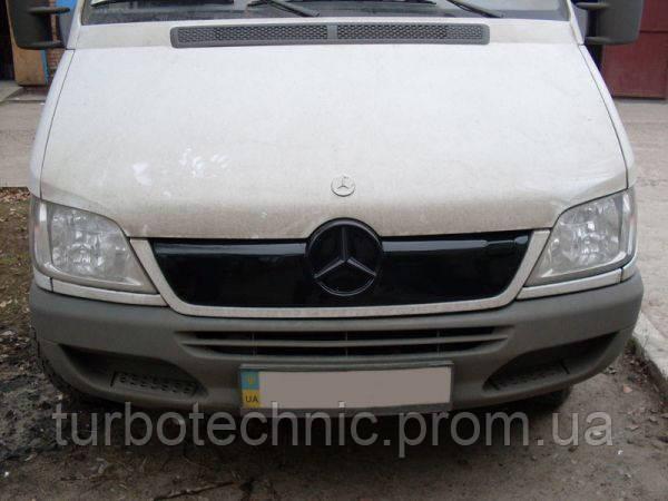 Зимняя накладка (глянцевая) Mercedes Sprinter CDI 2002-2006