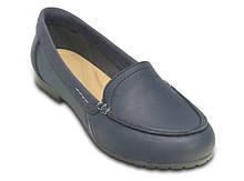 Туфли школьные для девочки лоферы Колорлайт / Crocs Marin ColorLite Loafer (202001), Синие