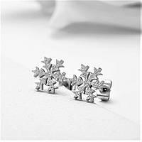 Серьги «Снежинки», фото 1