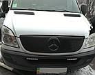 Зимняя накладка (матовая) Mercedes Sprinter 2006-2014 (решетка), фото 2