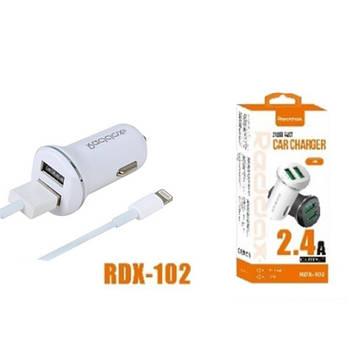 Прикурка на 2*USB (2+1A) 12/24V Redax RDX-102 + кабель Micro USB короткая