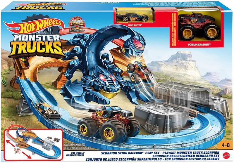 Трек Хот Вилс Жало скорпиона GNB05 Hot Wheels Monster Trucks Scorpion