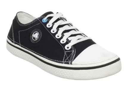 Кеды для подростка Кроксы текстильные / Crocs Men's Hover Lace-Up Sneaker (11366), Черные 34