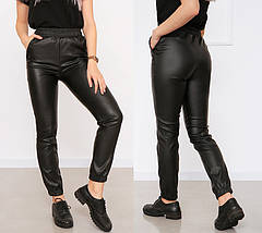 "Утеплённые кожаные штаны на флисе ""Маркус""| Батал, фото 2"