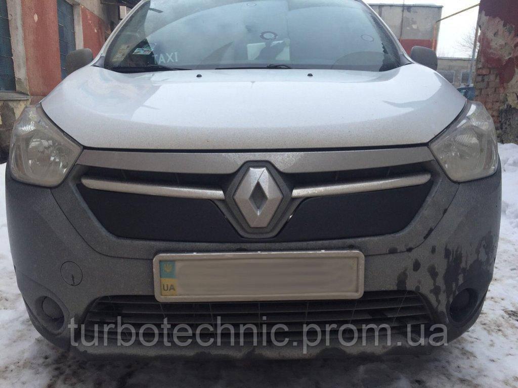 Зимняя накладка (матовая) Renault Dokker/Lodgy 2012- (решетка)