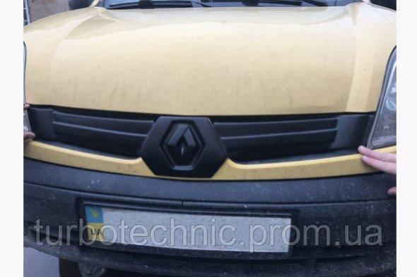 Зимняя накладка (глянцевая) Renault Kangoo 2003-2008 (Верх)