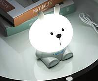 Ночник детский Зайчик Светодиодный, настольный - лампа Fashion Table Lamp  OLOEY EL-543-16 Серый – Silver