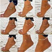 Украшение для ног. Цепочка на ногу. Женские ножные браслеты