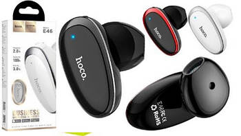 Bluetooth  моно-гарнитура  HOCO E46 Bk/Rd
