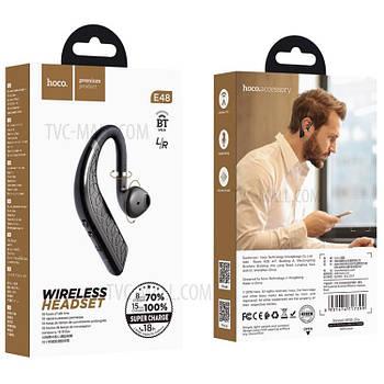 Bluetooth  моно-гарнитура  HOCO E48  Black