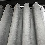 Комплект штор Petek на люверсах  Сірі штори з підхватами, фото 3