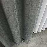 Комплект штор Petek на люверсах  Сірі штори з підхватами, фото 7