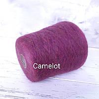 Пряжа Супер кидмохер 67%, шерсть 3%, 30 Па,  Linea Piu Camelot сирень меланж, фото 1