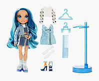 Кукла голубая Рейнбоу Скайлер Бредшоу​​ Rainbow High Skyler Bradshaw  Blue Cl Fashion Doll with 2 Outfits  MGA, фото 1