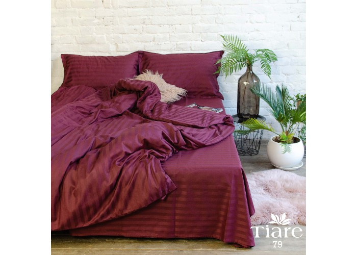 Комплект постельного белья полуторный Сатин Stripe 79 Tiare™