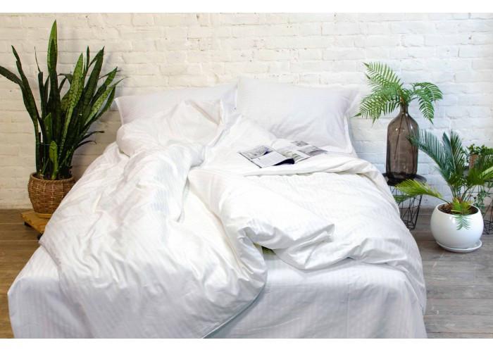 Комплект постельного белья двухспальный Сатин Stripe White Tiare™