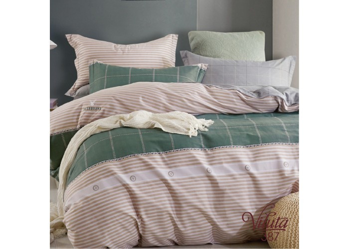 Комплект постельного белья Евро Вилюта Сатин Twill 387