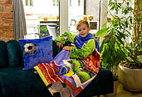 Плед детский с рукавами из микрофибры UK-1036 125х80 см Футбол