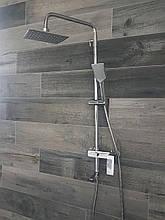 Смеситель в душевую с тропическим душем HAIBA Kubus 009