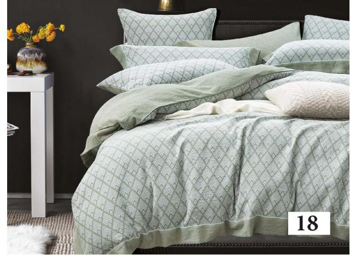 Комплект постельного белья Евро вареный хлопок Wash Jacquard 18 Tiare™