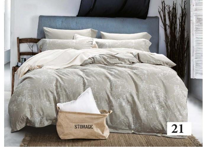Комплект постельного белья Евро вареный хлопок Wash Jacquard 21 Tiare™
