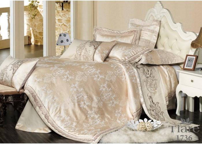Комплект постельного белья семейный Сатин Жаккард 1736 Tiare™