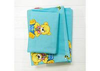Комплект постельного белья детский Вилюта Ранфорс 6112 голубой, фото 1