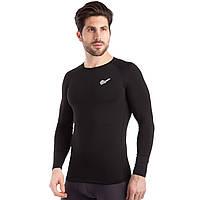 Термобелье мужское футболка с длинным рукавом (лонгслив) JASON D-923 (PL, эластан, р-р M-2XL, черный)