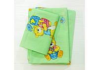 Комплект постільної білизни Вилюта дитячий ранфорс 6112 зелений, фото 1