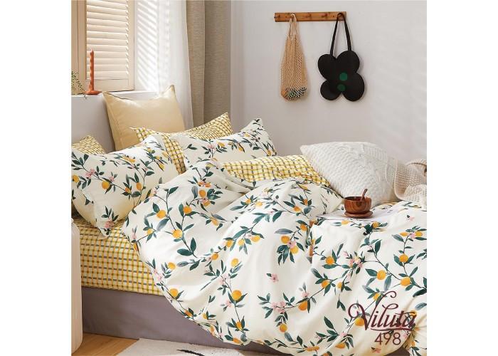 Комплект постільної білизни двуспальний Сатин Twill 498