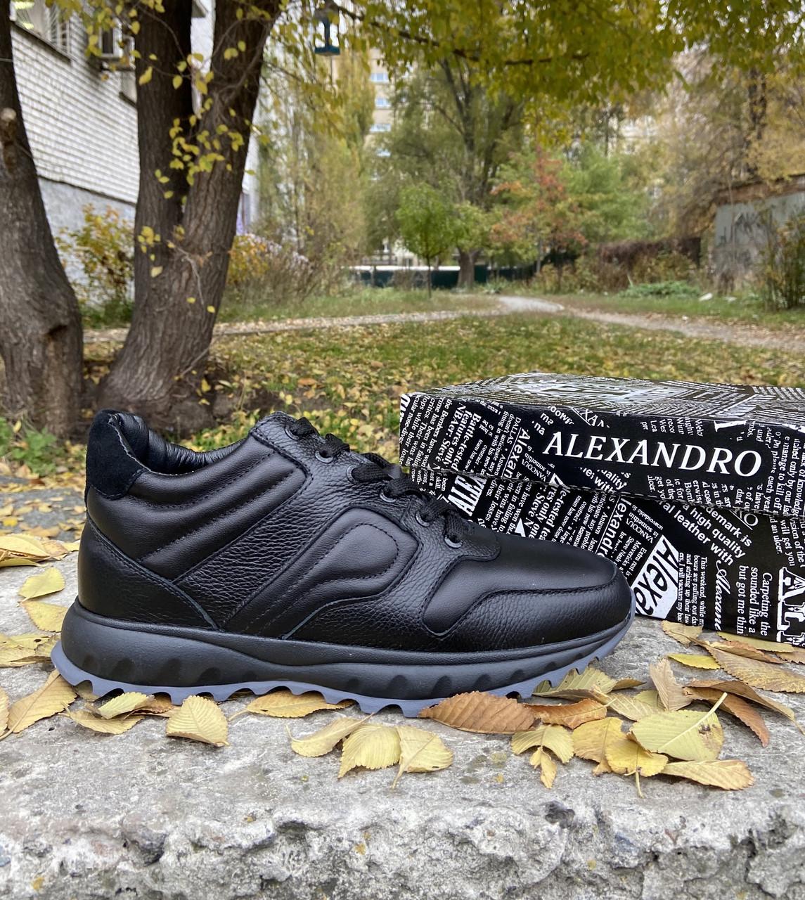 Мужские зимние кроссовки ALEXANDRO натуральная кожа 40