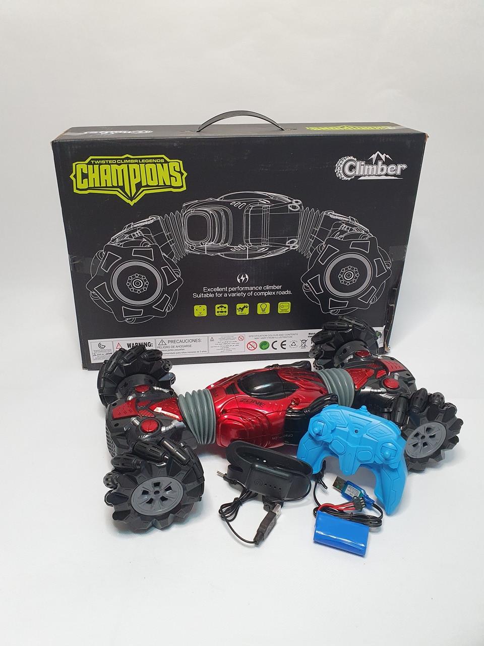 Машинка перевертыш Hyper Climbing Car Champions 42 см УПРАВЛЕНИЕ РУКОЙ