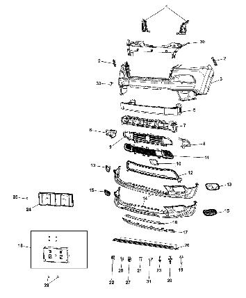 Рамка (накладка) на ПТФ (права) Lamp Cover для Jeep Cherokee KL 2014-2018 Джип Черокі (КЛ) 68203220AA, фото 2