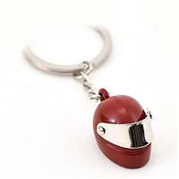 Брелок на ключи мотоциклетный шлем красный