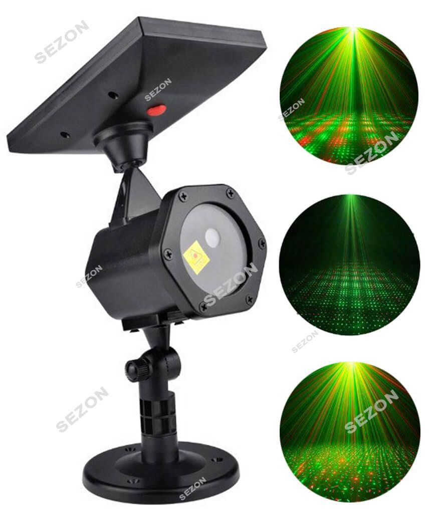 Вуличний лазерний проектор ХІТ 2020 СОНЯЧНА БАТАРЕЯ  КРАПКИ + пульт