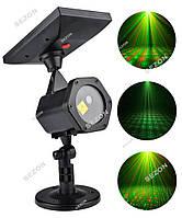 Вуличний лазерний проектор ХІТ 2020 СОНЯЧНА БАТАРЕЯ  КРАПКИ + пульт, фото 1