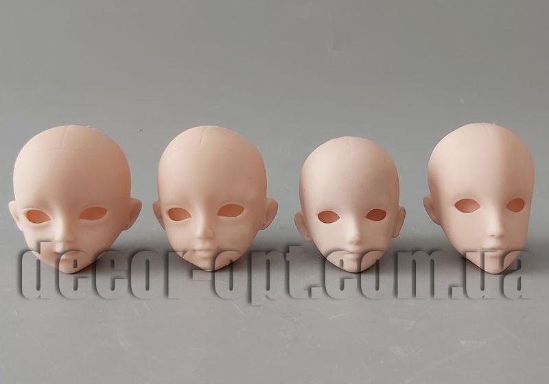 Голова куклы с вырезом для глаз 5,0 см